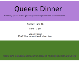 queers dinner