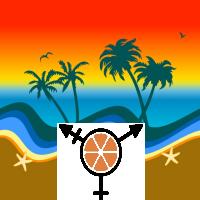 octc symbol on a beach